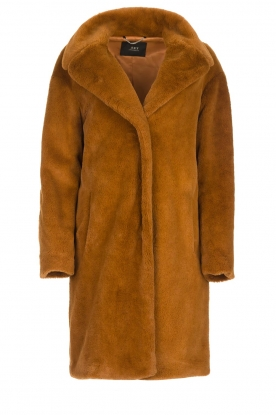 Set |  Faux fur coat Styn | brown