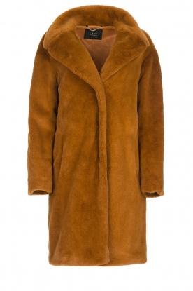 Set    Faux fur coat Styn   brown