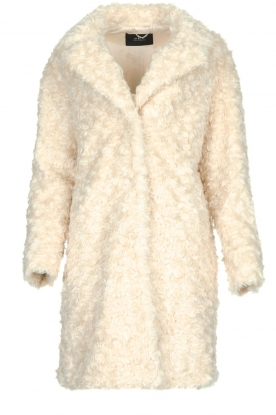 Set |  Faux fur coat Lizzy | off-white