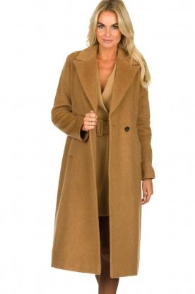 Set |  Woolen coat Mirthe | brown