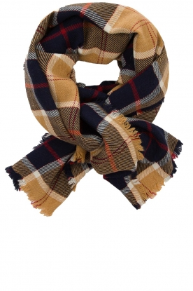 Set |  Checkered scarf Megan | black