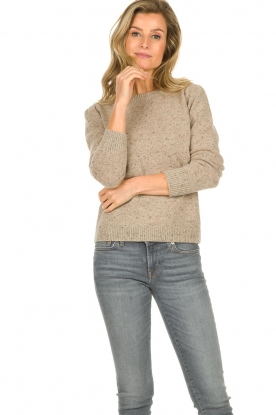 JC Sophie |  Knitted sweater Anne Sophie | brown