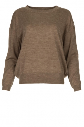 JC Sophie |  Knitted sweater Amore | brown