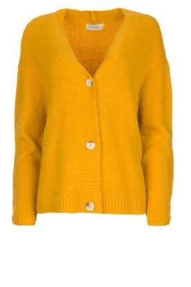 JC Sophie | Knitted cardigan Amalia | ochre yellow