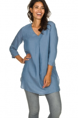 JC Sophie |  Denim tunic dress Alfreda | blue