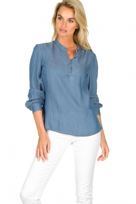 JC Sophie |  Denim blouse Alexia | blue