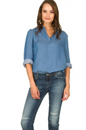 JC Sophie | Denim blouse Alexia | blauw