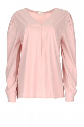 JC Sophie |  Blouse with playfully buttoned cuffs Aukje | pink