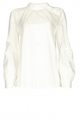 JC Sophie |  Blouse with ruffles Alison | white