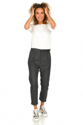 JC Sophie |  Cropped high-waist trousers Annemarie | grey