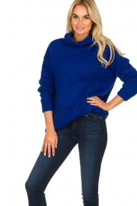 Be Pure |  Turtle neck sweater Olivia | blue