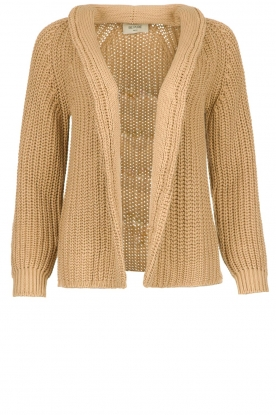Be Pure | Knitted cardigan Marloes | camel