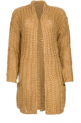 Be Pure |  Chunky knitted cardigan Charly | camel