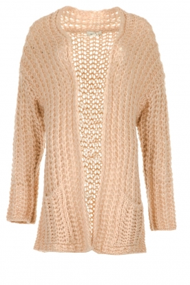 Be Pure |  Chunky knitted cardigan Charly | nude