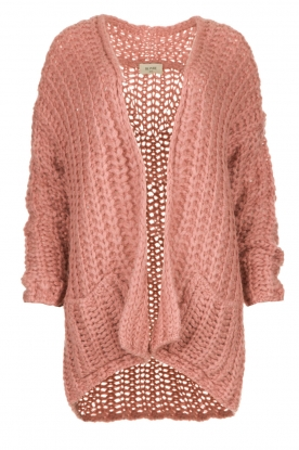 Be Pure    Chunky knitted cardigan Charly   pink