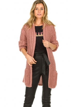 Be Pure |  Chunky knitted cardigan Charly | pink