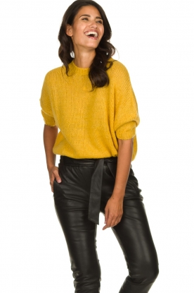 Be Pure | Knitted sweater Babette | yellow
