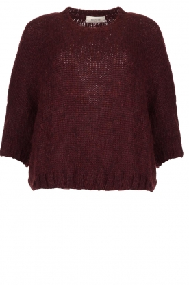 Be Pure | Knitted sweater Babette | burgundy