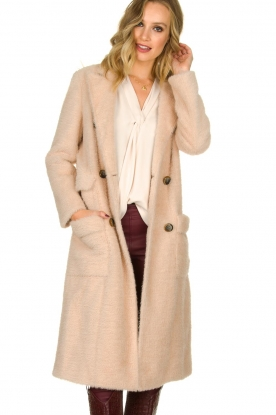 Fracomina |  Double-breasted coat Mandrea | beige