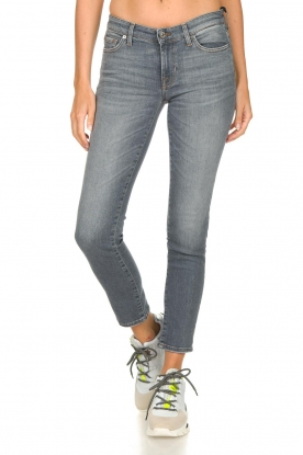 7 For All Mankind |  Cropped skinny jeans with Swarovski Pyper | grey