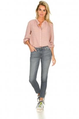 7 For All Mankind | Cropped skinny jeans met Swarovski Pyper | grijs