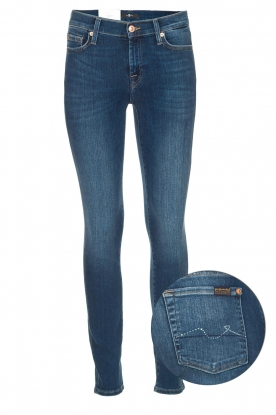 7 For All Mankind | Skinny jeans met Swarovski Slim Illusion Old Song | blauw