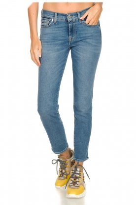 7 For All Mankind    Cropped skinny jeans Roxanne   blue