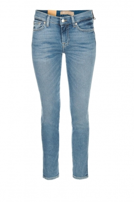7 For All Mankind | Cropped skinny jeans Roxanne | blauw