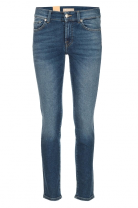 7 For All Mankind |  Cropped skinny jeans Roxanne Vintage | dark blue
