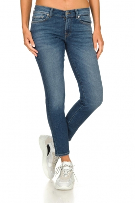 7 For All Mankind | Cropped skinny jeans Roxanne Vintage | donkerblauw