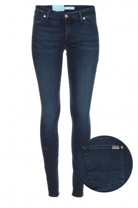 7 For All Mankind | Skinny jeans met Swarovski Parc Avenue | blauw