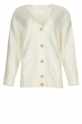Patrizia Pepe |  Buttoned cardigan Anouk | natural