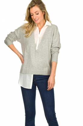Patrizia Pepe | Sweater with blouse Susan | grey