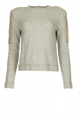 Patrizia Pepe |   Sweater with beaded decoration Emma | grey