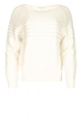 Patrizia Pepe |  Beaded sweater Heather | natural