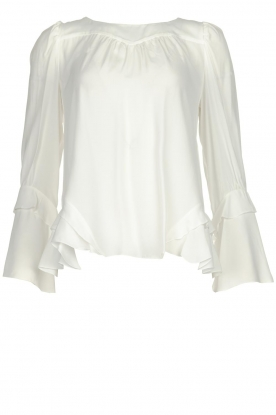 Patrizia Pepe |  Blouse with ruffles Tia | white
