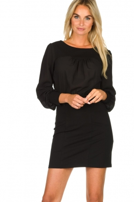 Patrizia Pepe |  Dress with open back Tanya | black