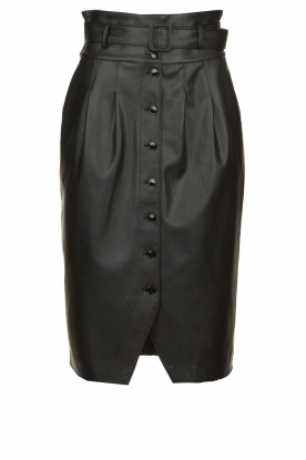 Patrizia Pepe |  Faux leather skirt Gonna | black