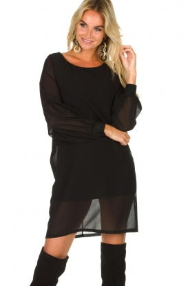 Patrizia Pepe |  Dress with puff sleeves Jazmin | black