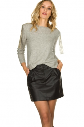 Patrizia Pepe |  Skirt with bead details Zara | black