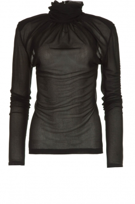 Patrizia Pepe |  See-through turtleneck top Martha| black