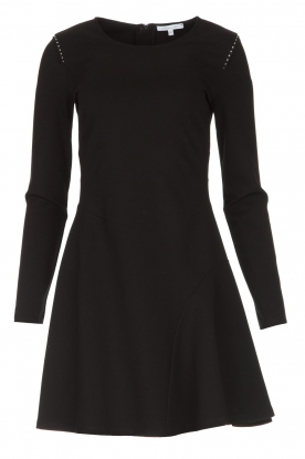 Patrizia Pepe |  Skater dress with stud details Nora | black
