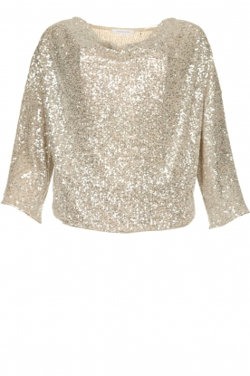 Patrizia Pepe |  Top with silver coloured sequins Amber | metallic
