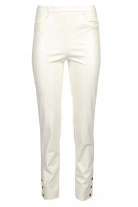 Patrizia Pepe |  Faux leather pants Mara | white