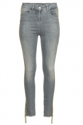 Patrizia Pepe | Jeans with glitter Quinty | grey