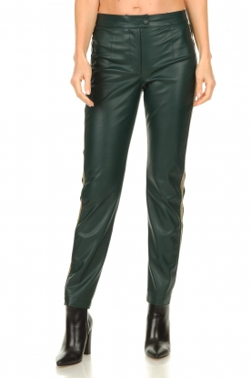 Patrizia Pepe |  Faux leather pants Lana | green