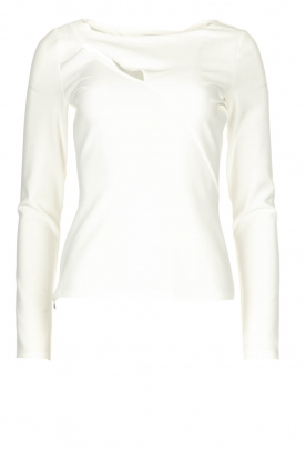 Patrizia Pepe |  Top with cut-out detail Sterre | white