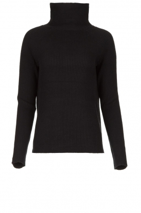 Blaumax |  Knitted turtleneck sweater Lena | black