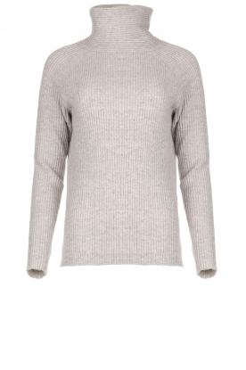 Blaumax | Knitted turtleneck sweater Lena | grey