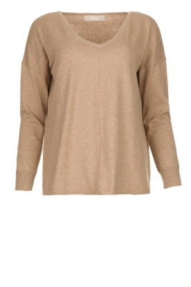 Blaumax |  V-neck sweater Fria | beige
